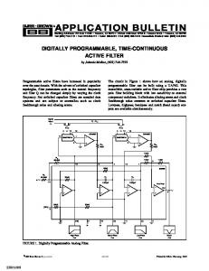 Digitally Programmable Time-Continuous Active ... - Texas Instruments