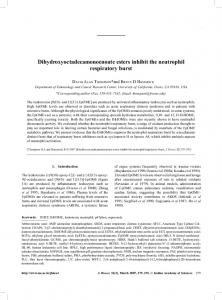 Dihydroxyoctadecamonoenoate esters inhibit the neutrophil ...