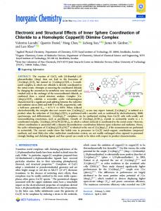 Diimine Complex - ACS Publications - American Chemical Society