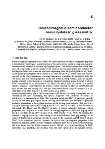 Diluted magnetic semiconductor nanocrystals in glass ...