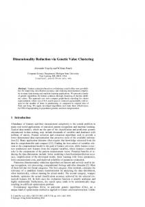 Dimensionality Reduction via Genetic Value Clustering