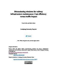 Dimensioning windows for railway infrastructure ... - Semantic Scholar