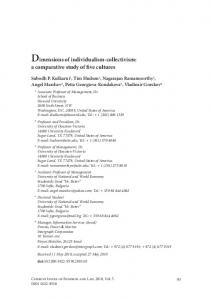 Dimensions of individualism-collectivism: a comparative ... - CiteSeerX