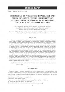 dimensions of women's empowerment and their influence on the ...