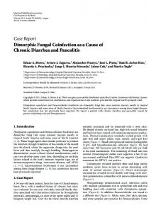 Dimorphic Fungal Coinfection as a Cause of Chronic Diarrhea and ...
