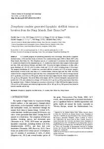 Dinophysis caudatagenerated lipophilic shellfish toxins in bivalves ...