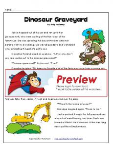 Dinosaur Graveyard - Super Teacher Worksheets