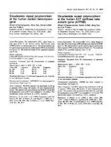 Dinucleotide repeat polymorphism Dinucleotide repeat polymorphism ...