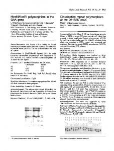 Dinucleotide repeat polymorphism - NCBI