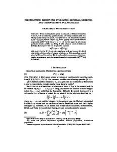Diophantine equations involving general Meixner and ... - IECL