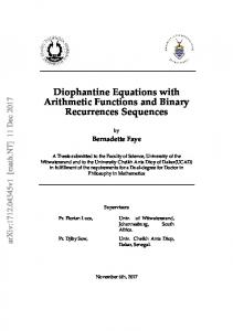 Diophantine Equations with Arithmetic Functions and Binary