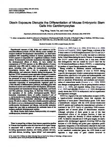 Dioxin Exposure Disrupts the Differentiation of ... - Semantic Scholar