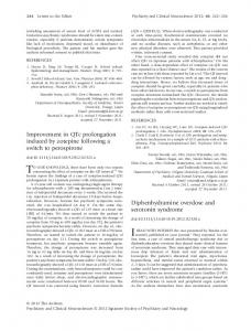 Diphenhydramine overdose and serotonin ... - Wiley Online Library