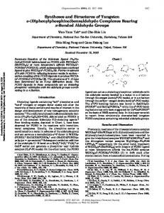 (Diphenylphosphino)benzaldehyde Complexes Bearing pi-Bonded ...