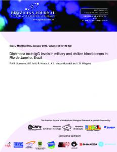 Diphtheria toxin IgG levels in military and civilian ... - Semantic Scholar
