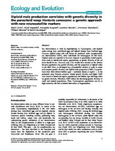 Diploid male production correlates with genetic ... - Wiley Online Library