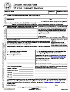 Diploma Request Form
