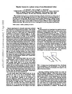 Dipolar bosons in a planar array of one-dimensional tubes