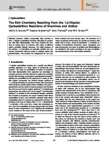 Dipolar Cycloaddition Reactions of Enamines and ...