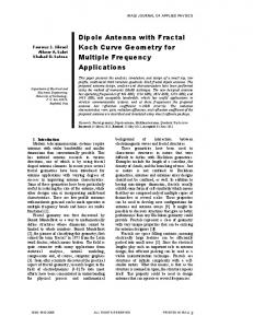 Dipole Antenna with Fractal Koch Curve Geometry for Multiple ... - IASJ