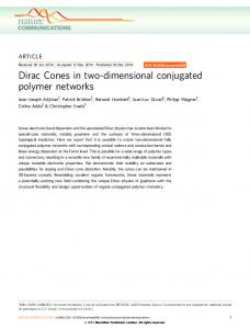 Dirac Cones in two-dimensional conjugated polymer