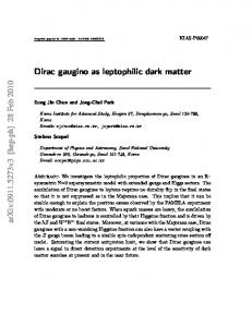 Dirac gaugino as leptophilic dark matter