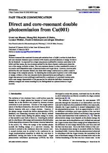 Direct and core-resonant double photoemission