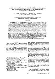 DIRECT AND MATERNAL VARIANCES AND COVARIANCES AND ...
