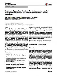 Direct cost of pars plana vitrectomy for the treatment of ... - Springer Link