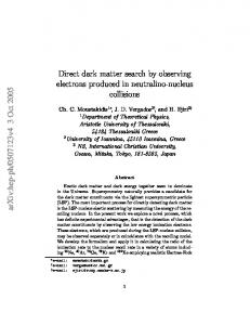 Direct dark matter search by observing electrons produced in ...