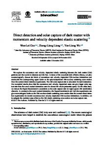 Direct detection and solar capture of dark matter with