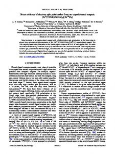 Direct evidence of electron spin polarization from an organic-based ...