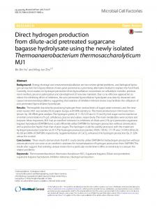 Direct hydrogen production from dilute-acid