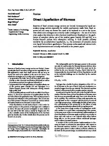 Direct Liquefaction of Biomass - Wiley Online Library
