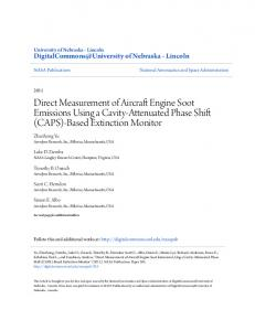 Direct Measurement of Aircraft Engine Soot Emissions Using a Cavity ...