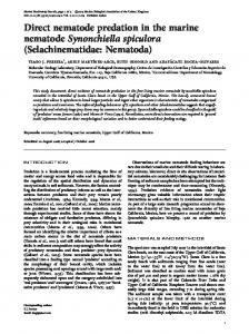 Direct nematode predation in the marine nematode ...