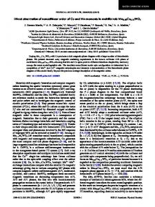 Direct observation of noncollinear order of Co ... - APS Link Manager