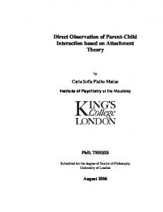 Direct Observation of Parent-Child Interaction based