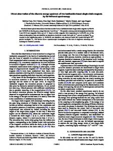 Direct observation of the discrete energy ... - APS Link Manager