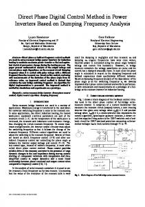 Direct Phase Digital Control Method in Power Inverters Based on ...