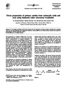 Direct preparation of primary amides from carboxylic acids and urea