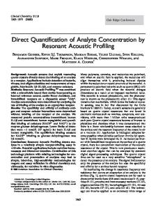 Direct Quantification of Analyte Concentration by ... - Clinical Chemistry