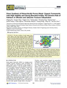 Direct Synthesis of Hierarchically Porous Metal ... - ACS Publications
