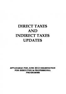 direct taxes and indirect taxes updates - The Institute of Company ...