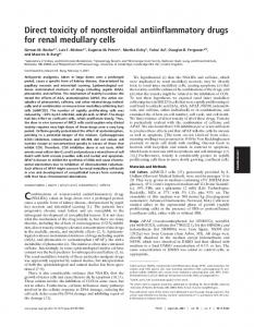 Direct toxicity of nonsteroidal antiinflammatory drugs for renal ...