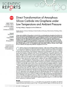Direct Transformation of Amorphous Silicon