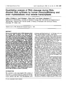 directed DNA synthesis by human immunodeficiency and - NCBI