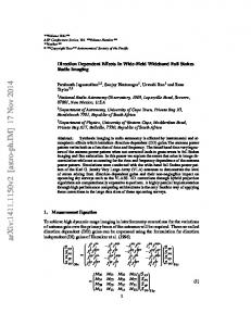 Direction Dependent Effects In Wide-Field Wideband Full Stokes ...