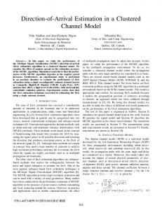 Direction-of-Arrival Estimation in a Clustered Channel ... - IEEE Xplore