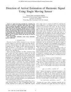 Direction of Arrival Estimation of Harmonic Signal Using ... - IEEE Xplore